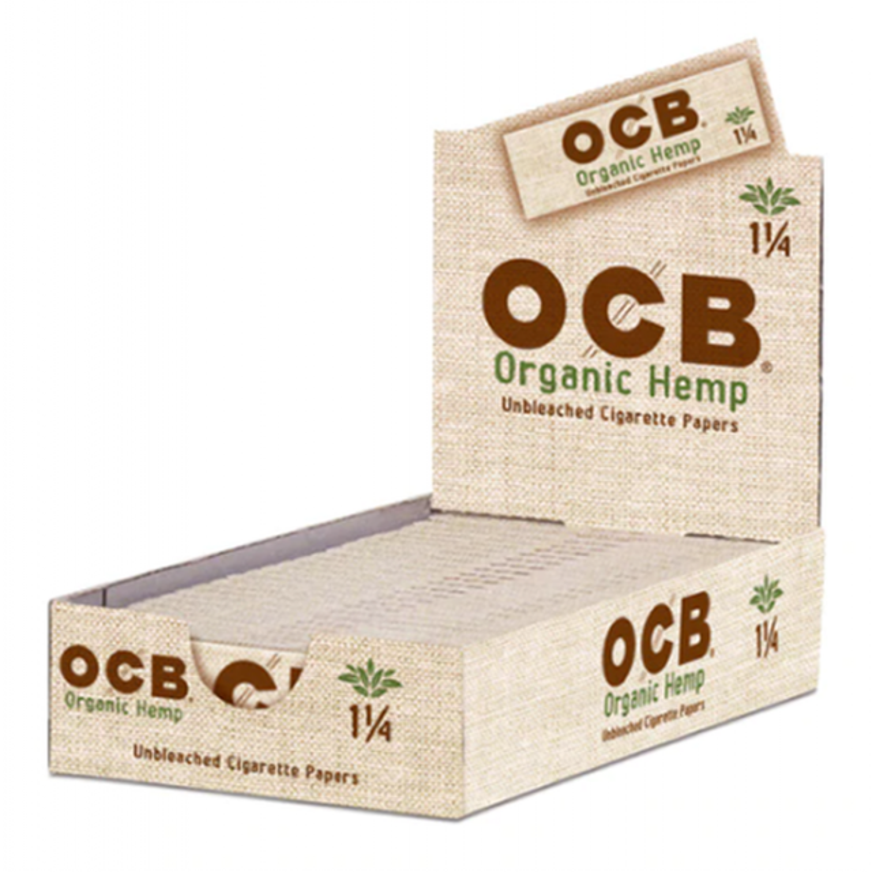 OCB Hemp Rolling Papers Single Wide 50-Count Display of 24