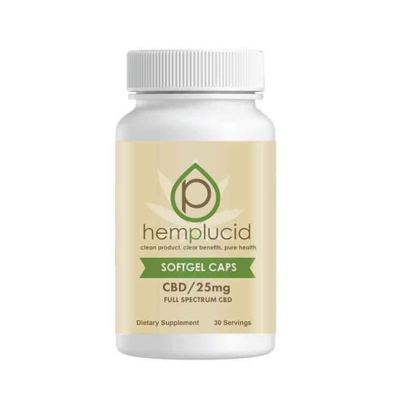 Hemplucid Full Spectrum Hemp Extract CBD Gel Supplement 30 Count Wholesale