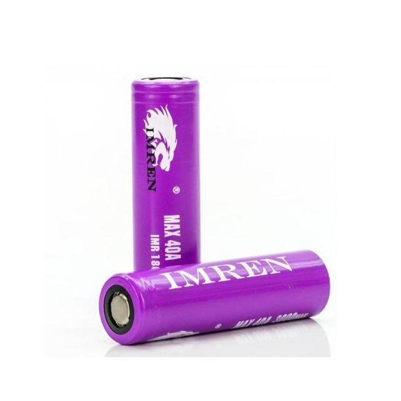 Imren IMR 18650 Purple Battery 2 Pack Wholesale