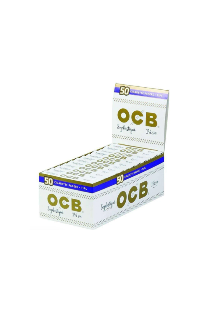 OCB Sophistique Rolling Papers 1 1/4 50-Count Display of 24