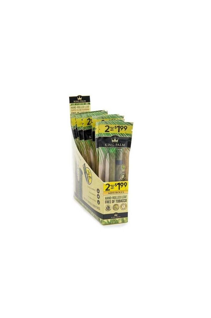 King Palm Mini Size 2-Pack Pre-Roll (Pre-priced at $1.99) 20-Pack Display